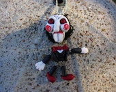Creepy Puppet, Halloween Puppet, Scary Clown, Creepy, Clown, Horror Movie, Scary Movie Prop, Necklace