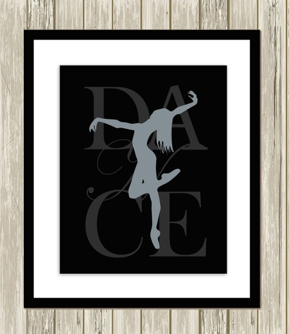 Dancer dance wall art teen girl wall art girls room decor for Teen wall decor