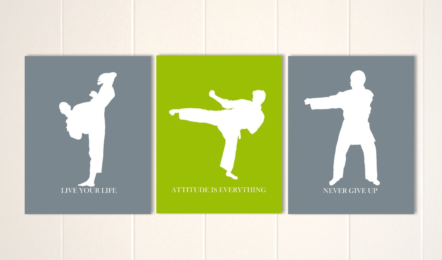 Martial art boys wall art karate wall art teen boy art for Boys wall art