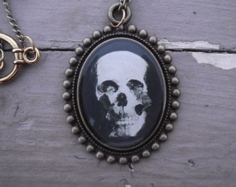 Handmade Oval Skull Necklace