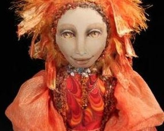 Mardi Gras Dancer Art Doll  OOAK