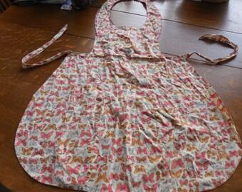 full bib apron, pioneer, farmer, prairie, cooking, Laura Ingalls, in vintage cotton