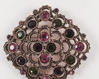"Sarah Coventry ""Austrian Lites"" Brooch"