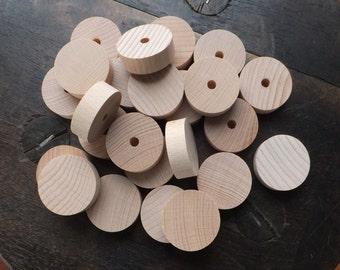 044-03 Wooden wheels - 24 pcs