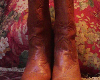 Vintage Authentic Frye Cowgirl Boots Size 6B