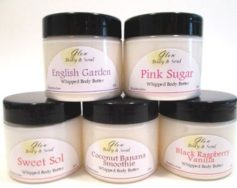 Your Choice of Fragrance Body Butter Paraben Free Body Butter 2oz.