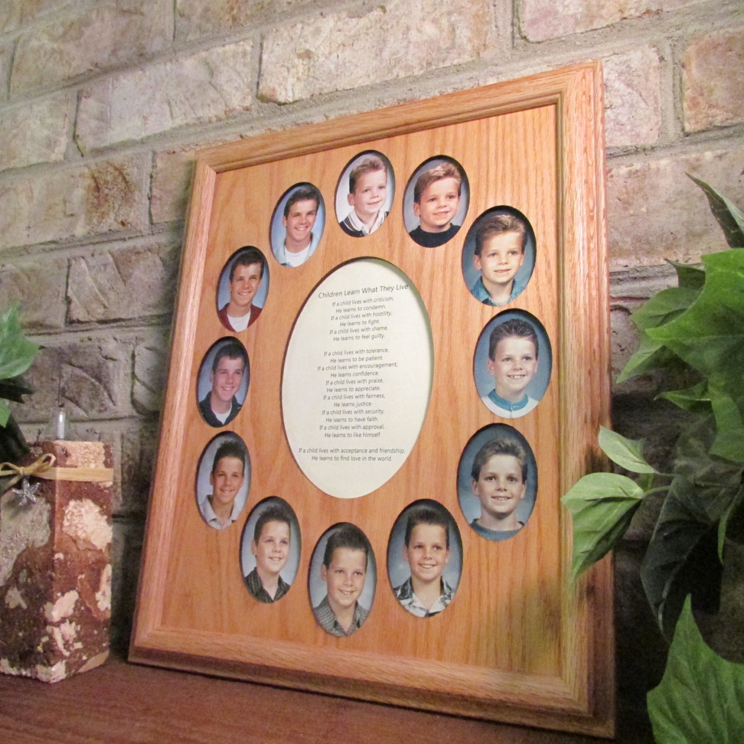 School Years Collage Picture Frame K 12 Graduation Oval 11x14
