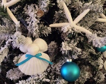 Seashell Angel Ornament - Beach Decor - Nautical