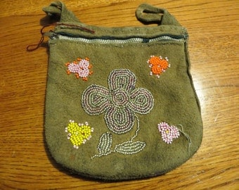 Native American Pacific Coast Indian Beaded Pouch