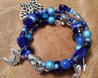 Custom Charm Beaded Bracelet