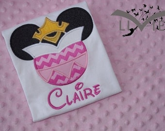 Sleeping Beauty- Disney Mickey Mouse Ears Appliquéd Shirts or Onesies-- Girl/Princesses