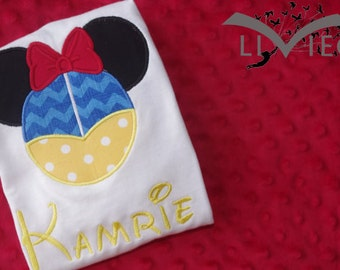 Snow White Disney Mickey Mouse Ears Appliquéd Shirt or Onesie-- Girl/Princesses- Disney Vacation Shirt