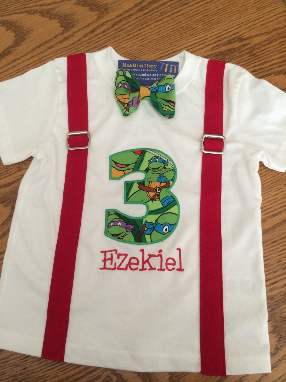 Ninja turtle birthday shirt for Where can i buy ninja turtle shirts