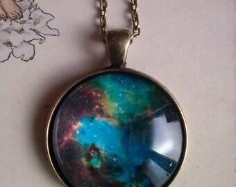 nebul nebulosa picture pendant necklace