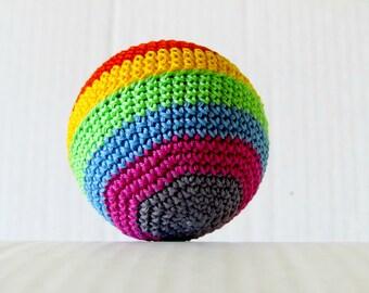 Rainbow ball , Crochet Amigurumi baby toy