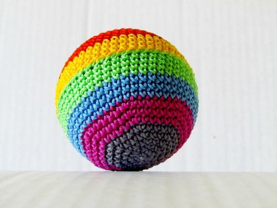 Amigurumi Crochet Ball : Rainbow ball Crochet Amigurumi baby toy by FairyOfColor on ...