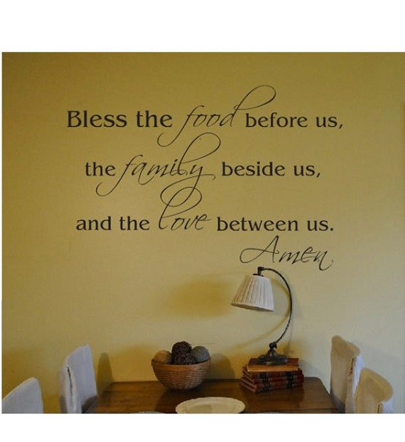 Kitchen Dining Room Wall Quote Sign Vinyl Decal Sticker