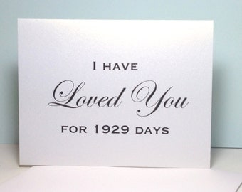 Wedding Card for Bride or Groom I Have Loved You Card, Anniversary Card, Love Card, I Love You, Wedding Card