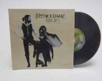 Record Album Fleetwood Mac Rumours - dollhouse miniature 1:12 scale
