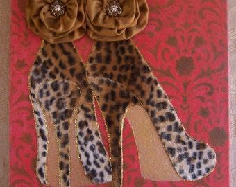 Stiletto High Heel Collage, high heels, shoes, wall art