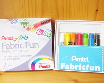 Pentel Fabric Dye Sticks, permanent fabric colors, kids crafts, party supplies, craft supplies, art classes, ShineKidsCrafts