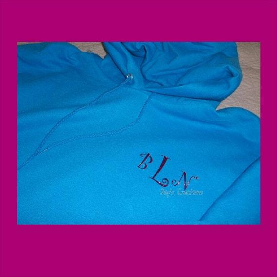 Monogrammed hooded sweatshirt  - monogram hoodie sweatshirt - personalized gift -  monogrammed gift - custom hooded sweatshirt