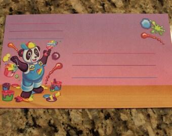 Vintage Lisa Frank Panda Painter Envelope