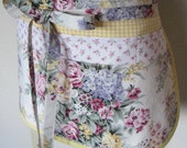 garden apron, Mothers Day gift, shabby chic, cottage chic, rose gardener, gardener, gardening apron, retirement gift, birthday gift