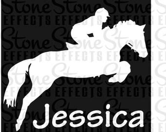vehicle decals, horse decals, Vehicle Sticker, Horse vinyl sticker- Horse Jumping, Car sticker, decals, ipad stickers