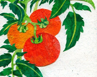 Red Tomatoes Art Print, Gift for Cook, Country Kitchen Print, Vegetable Art
