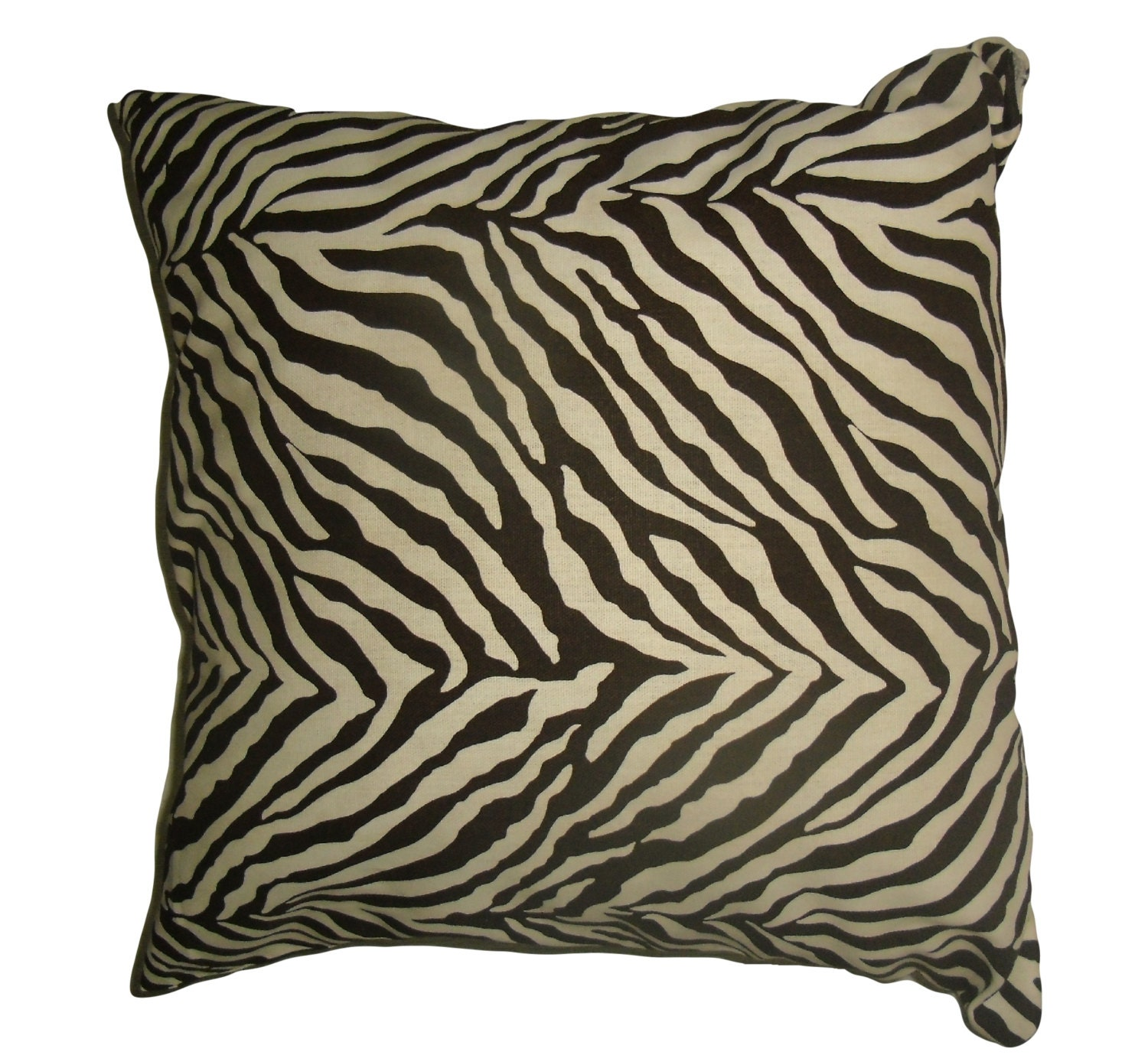 Zebra Decorative Pillows : Kuwaha Zebra Animal Print Decorative Pillow Cover Brown