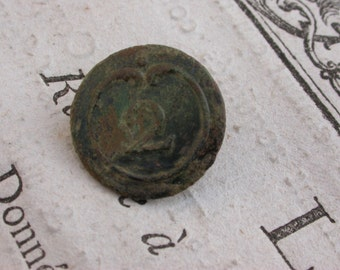 2 infantry  regiment numbered antique button Napoleon war 1812  French antique metal button military suit button army button France Paris