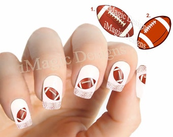 Nail art decals water slide nail stickers peacock feather nail decals water slide nail stickers football prinsesfo Images