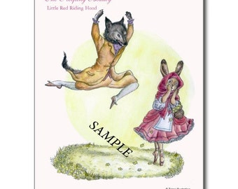 The Sleeping Beauty Ballet Bunnies postcard set B (6 cards)