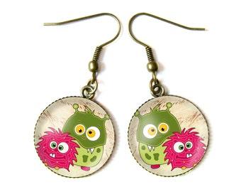 Little monsters earrings