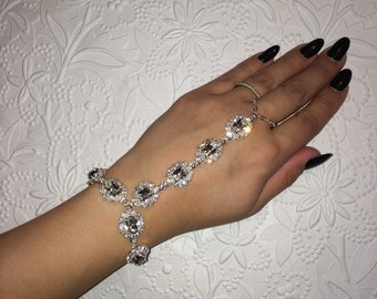 Adorned - Swarovski crystals hand chain