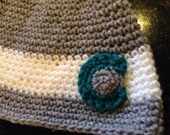 Crochet Colorado Hat, Colorado flag hat, yeti cycles hat