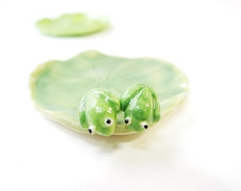 Tiny Frog Earrings Frog Stud Ceramic Frog Gift Green Frog Miniature Frog Tiny Animal Jewelry Frog Jewelry Green Stud Ceramic Stud