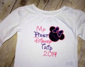 My 1st Disney Trip Custom Embroidered Shirt or Onesie