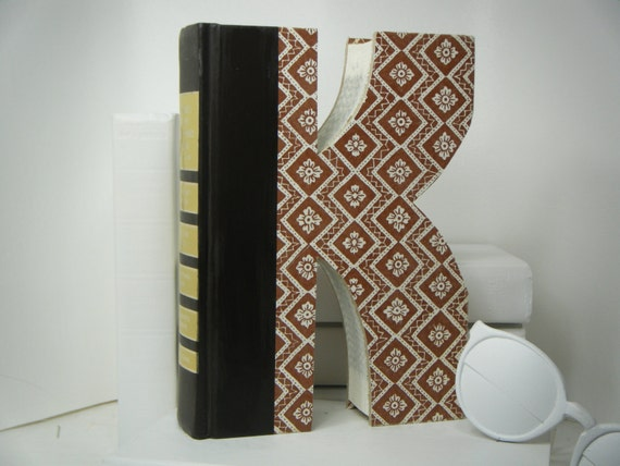 book letter k unique engagement gifts by twistedpages on etsy. Black Bedroom Furniture Sets. Home Design Ideas