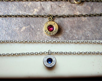 Bullet Necklace-38 Special- Birthstone Necklace- Everyday- Simple- Bullet Jewelry- Ammo Necklace- Country Girl- Bullet Charm- Eco Friendly