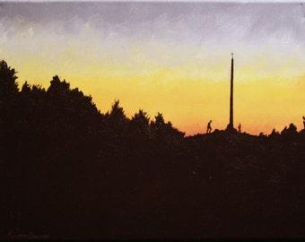 """Painting """"Cruz De Hierro""""  El Camino de Santiago 14""""X11"""" Acrylic on Canvas"""