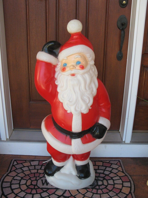 LARGE 40 blow mold waving SANTA Christmas blowmold