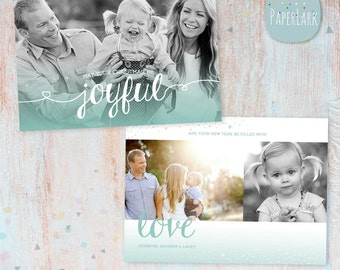 Christmas Card Template - Photoshop template - AC061 - INSTANT DOWNLOAD