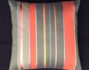 "Hella Jongerius  Maharam Textiles ""Repeat Stripe"" Poppy - mid century modern style accent Pillow 17"" X 17"""