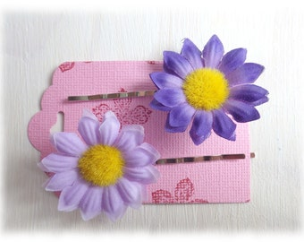Spring - Bobby Pins set of 2, violet, pink