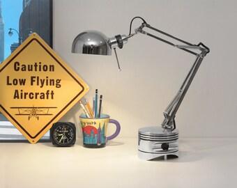 Radial Engine Piston Lamp Mk-II. On SALE Industrial, Desk Lamp. Aviation Art, Aircraft Part, Modern lamp, Industrial Lamp Aviation Furniture