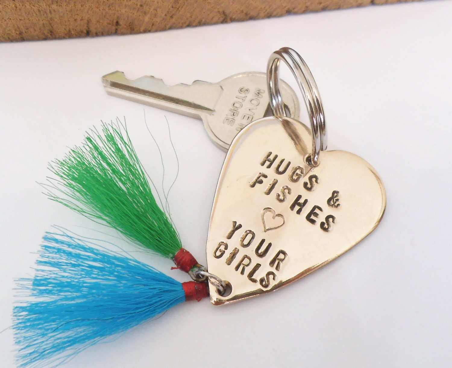 Daddy gift for christmas father daughter fishing lure keyring for Fishing gifts for dad