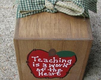 Teacher Block - Teaching is a Work of the Heart