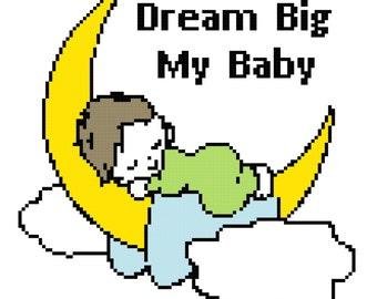 Crochet Pattern Chart Baby Blanket Baby Moon Baby Sleeping Toddler Blanket Afghan